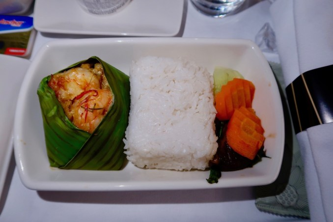 CATHAY DRAGON BUSINESS CLASS MEAL