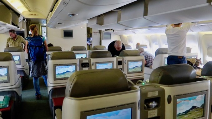 ETHIOPIAN AIRLINES B777 BUSINESS CLASS CABIN
