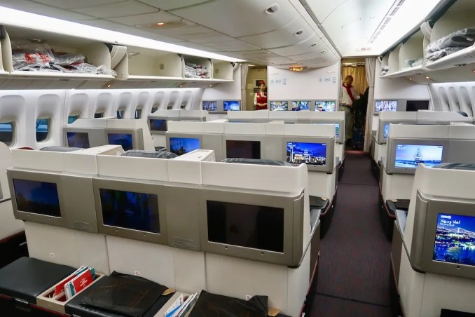 TURKISH AIRLINES B777 BUSINESS CLASS CABIN