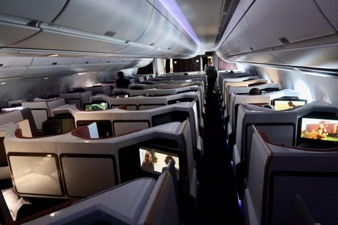 VIRGIN ATLANTIC A350 UPPER CLASS CABIN