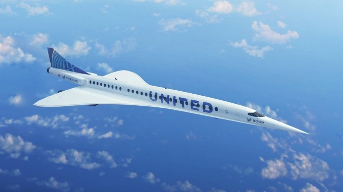 United Airlines Supersonic Boom