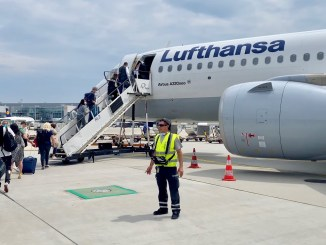 review lufthansa business class A320neo