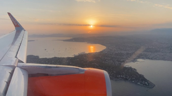 VIEW OF THE FRENCH RIVIERA DURING LANDING