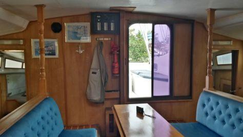 Der Salon, von der StB-Kabine aus gesehen