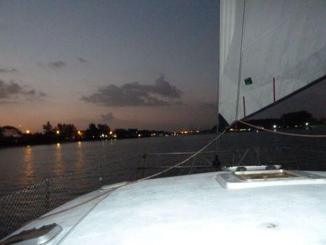 Mit der Goody auf dem Rückweg zum Yachtclub