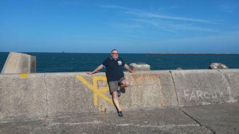 Andi auf der Pier zur Hafenausfahrt