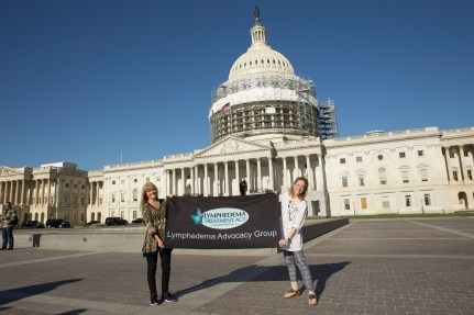 Representing the Maryland State Team! Photo by Julie F. Hanson, for the Lymphedema Treatment Act.