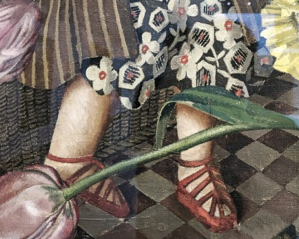 Detail from Silent Prayer (1951), by Stanley Spencer