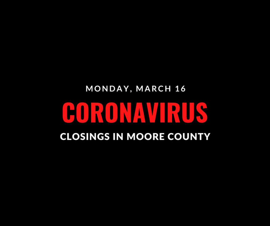 Live Updates: Moore County Coronavirus Closings