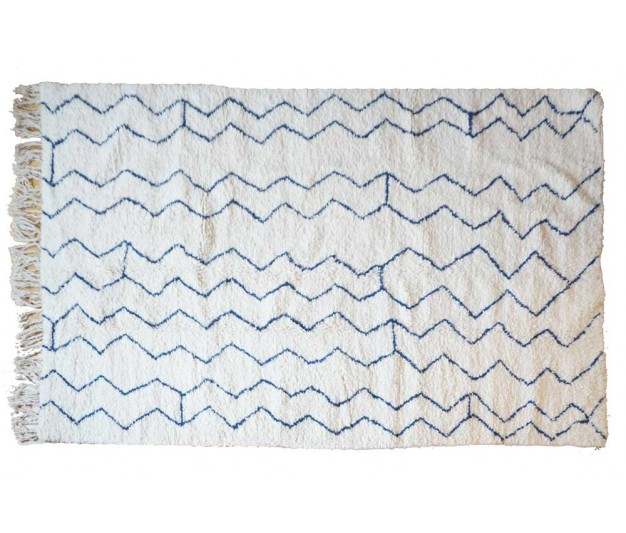 sold out please contact marion them fr to order it on your size blue moroccan rug 264 x 160cm 104 x 63