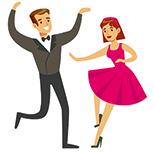 couple danseurs rock