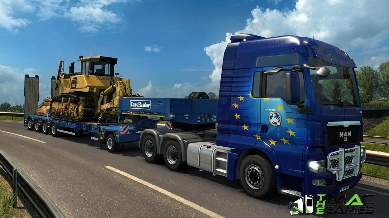 Euro Truck Simulator 2 MacOSX Cracked Game Free Download