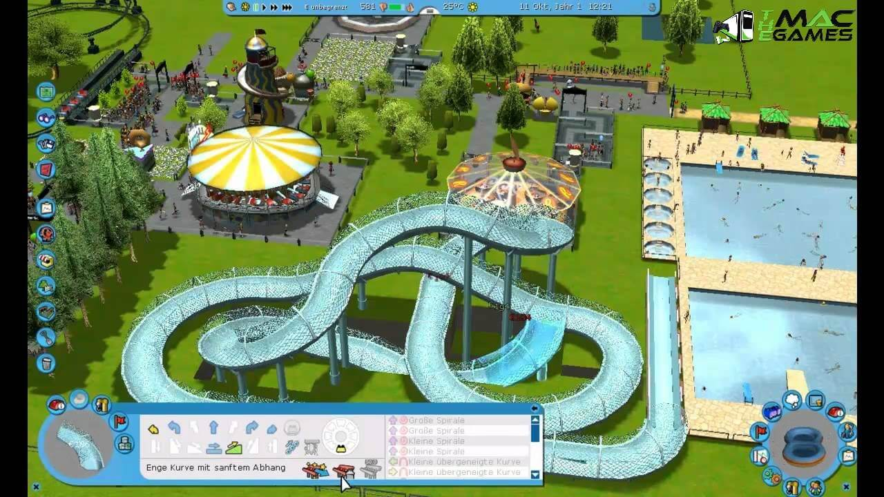 Build your own roller coaster theme park