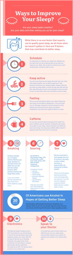 Infographic - Better Sleep