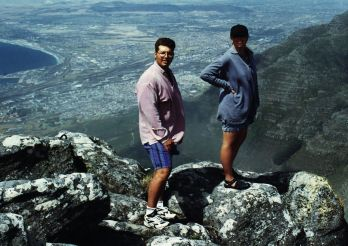 On the top of Table Mountain (with Dino - who is now my brother-in-law).