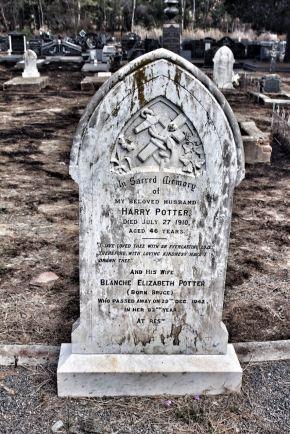 Here lies Harry Potter...
