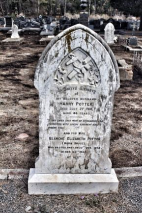 Here lies Harry Potter...