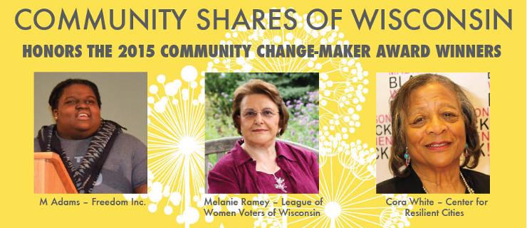 community-shares-wisconsin-2015-community-change-maker-award-winners