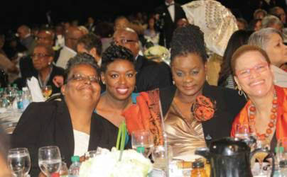 Pictured from left to right, Cindy Bentley (Author/Activist), Bria Grant (Community Organizer), Congresswoman Gwen Moore (4th Congressional District), Dr. Julianne Malveaux (Economist/Commentator). Photo by Urban Media News.