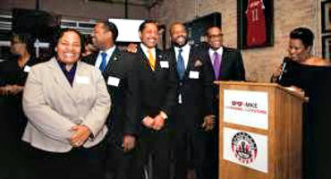 Left to right: Ald. Milele Coggs, Ald. Ashanti Hamilton, Ald. Willie Wade, and Ald. Russell Stamper. Photo courtesy of PARKHILL MEDIA.