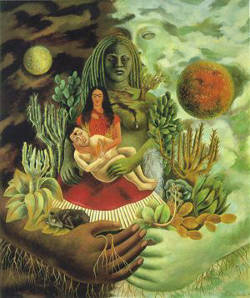 Frida Kahlo, The Love-Embrace of the Universe, 1949. Photo courtesy of the Modern and Contemporary Mexican Art Collection of Jacques and Natasha Gelman.