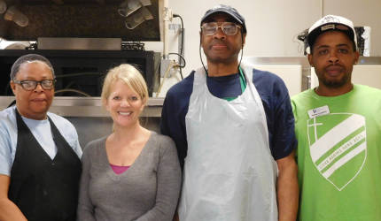 Culinary Creations staff (not all staff pictured). Photo courtesy of the Catholic Multicultural Center of Madison