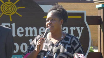 Mendota Elementary School Principal Carlettra Stanford said the school has talented, dedicated staff, but the challenges many students face is too much for schools alone. She says it takes family, staff and the community to ensure kids are prepared to learn so they don't start falling behind. Shamane Mills/WPR
