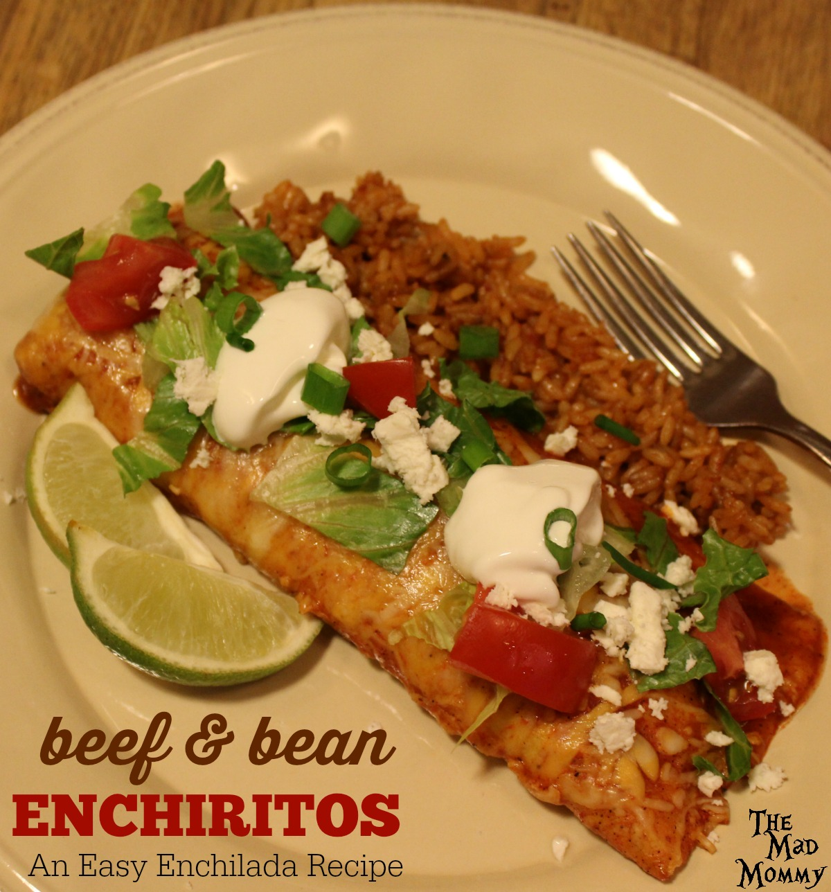 These beef and bean enchiritos are a super delicious version of an easy enchilada recipe made with flour tortillas instead of corn.