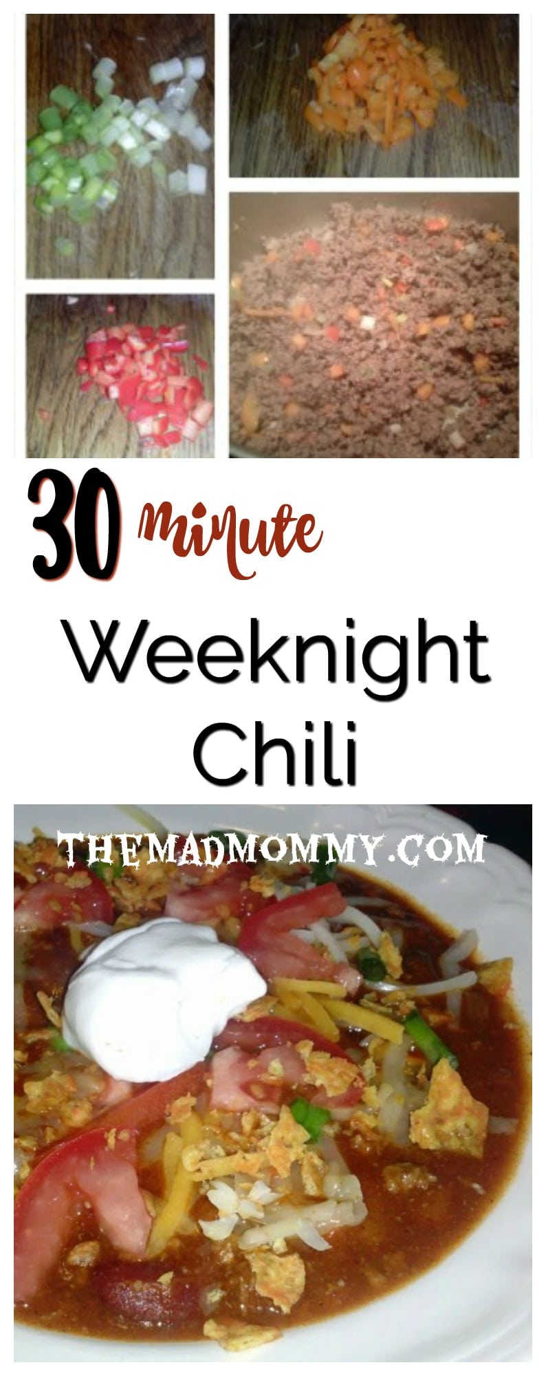 Here is a quick and easy 30 minute chili recipe that doesn't taste quick or easy!