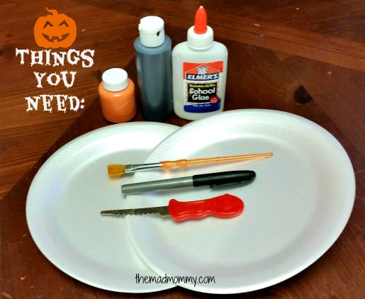 Supplies you need to make the Preschool Practice Pumpkins.