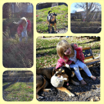 {Almost} Wordless Wednesday: A Girl and her Dog!