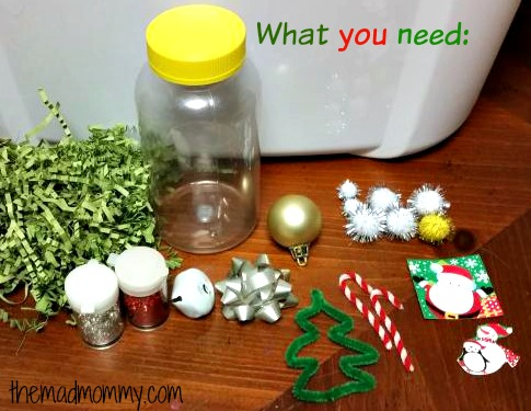 How to make your own I-Spy Holiday Bottle.