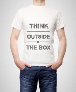 think outside the box on t-shirt