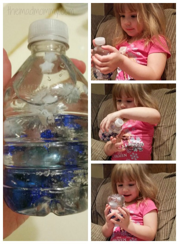 play and discover frozen sensory bottle