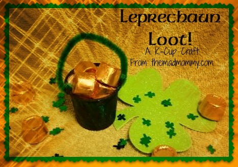 How cute and simple is this St. Patrick's Day craft made out of used k-cups? Make some Leprechaun Loot this year!
