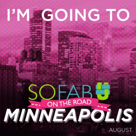 I am heading out to SoFabU Onthe Road In Minneapolis! Will you be there? #SoFabUOTR