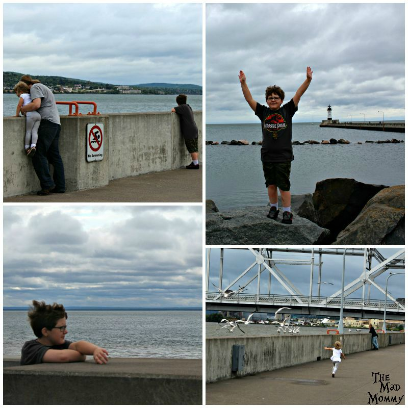 We all felt it at Lake Superior in Duluth