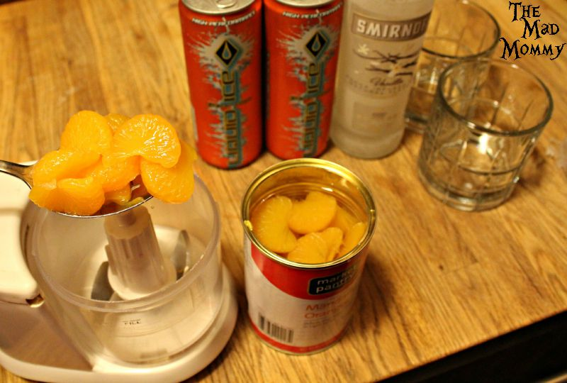 Add about a 1/2 cup of mandarin oranges in for the Vanilla Orange Krush cocktail.