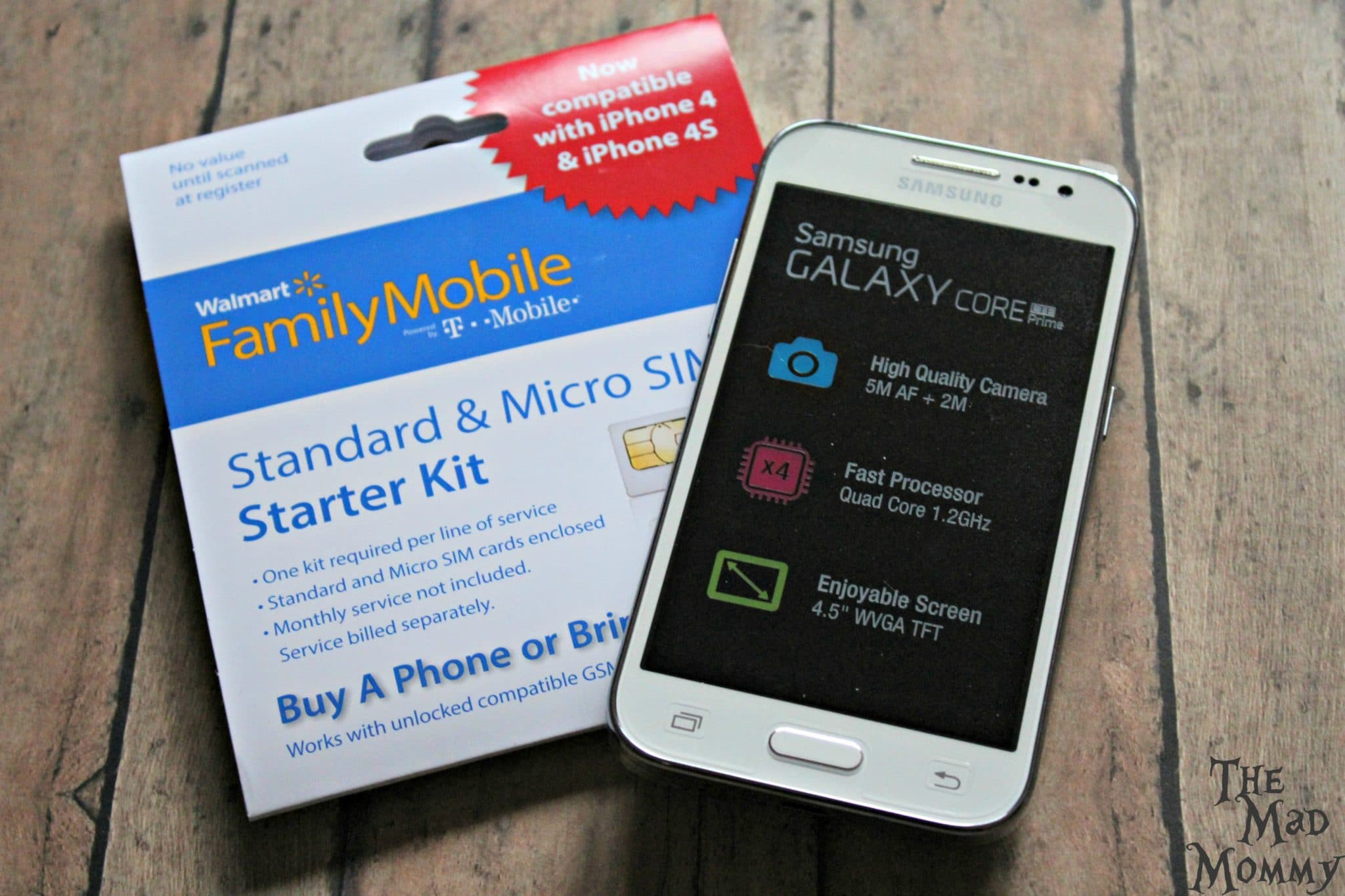 Activate your Walmart Family Mobile PLUS plan and phone in only a couple of quick minutes with the starter kit. #DataAndAMovie #FamilyMobile #AD #CollectiveBias