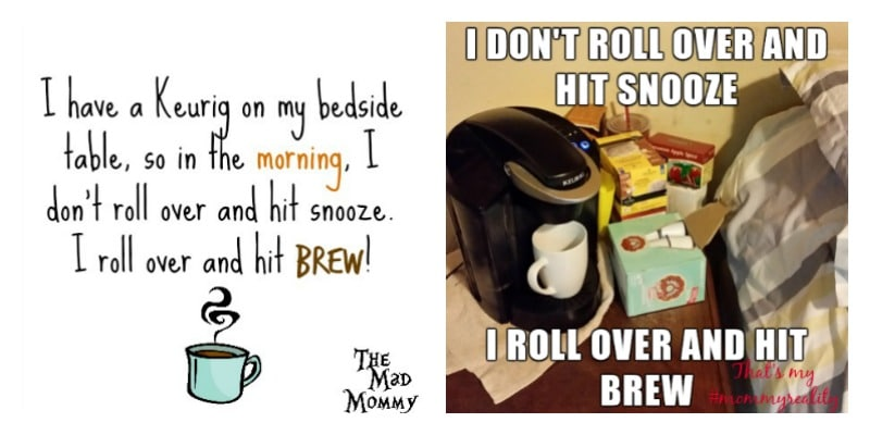 I have a Keurig® on my beside table. I don't rollover and hit snooze, I roll over and hit brew! #SweetMeetsSpicy #ChaiLatte, #KCup #ad #IC