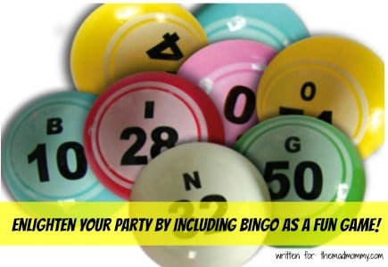 Add some fun to your next party by including Bingo!