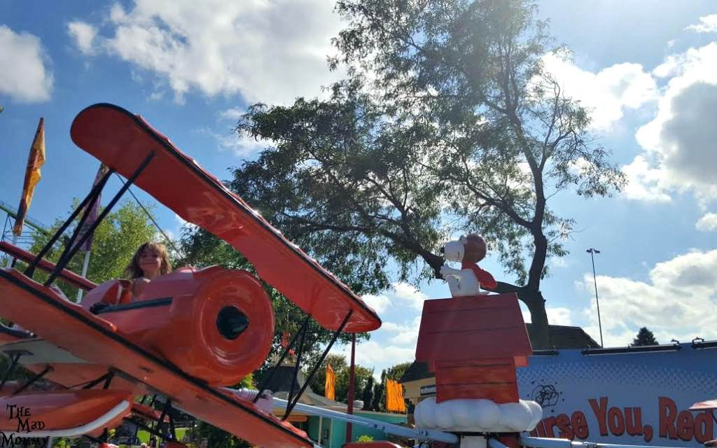 Flying high on the Red Baron in Planet Snoopy at Valleyfair! #VFBestDay #VF40 #Spons