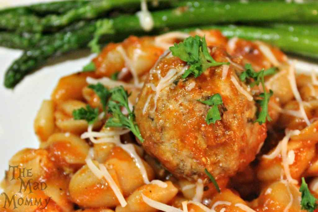 stuffed-meatball-with-pasta