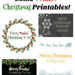 Some Freakin' Christmas Printables