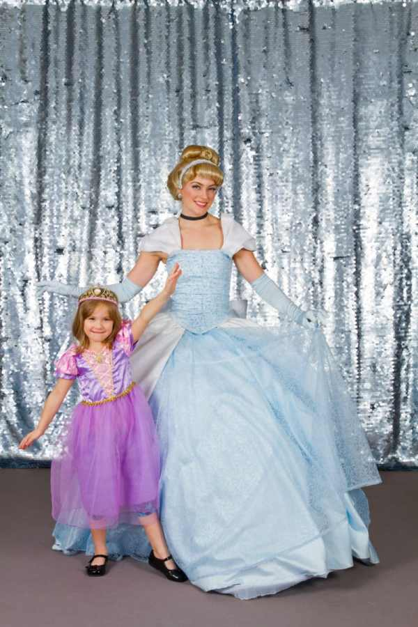 Meeting Cinderella and having a professional photo taken at the Pretty Princess Parties Fairytale Ball in the Twin Cities.
