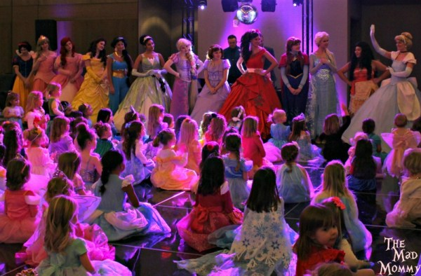 All of the princesses upon entering the Pretty Princess Parties Fairytale Ball!