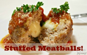 My family loves spaghetti and sometimes, I make it a little special by whipping up some of my Mozzarella Stuffed Meatballs!