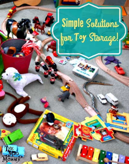 Toys are like germs, they just continuously spread, so you have to come up with a few ways to keep them in their place. Here are a few of my simple solutions for toy storage.