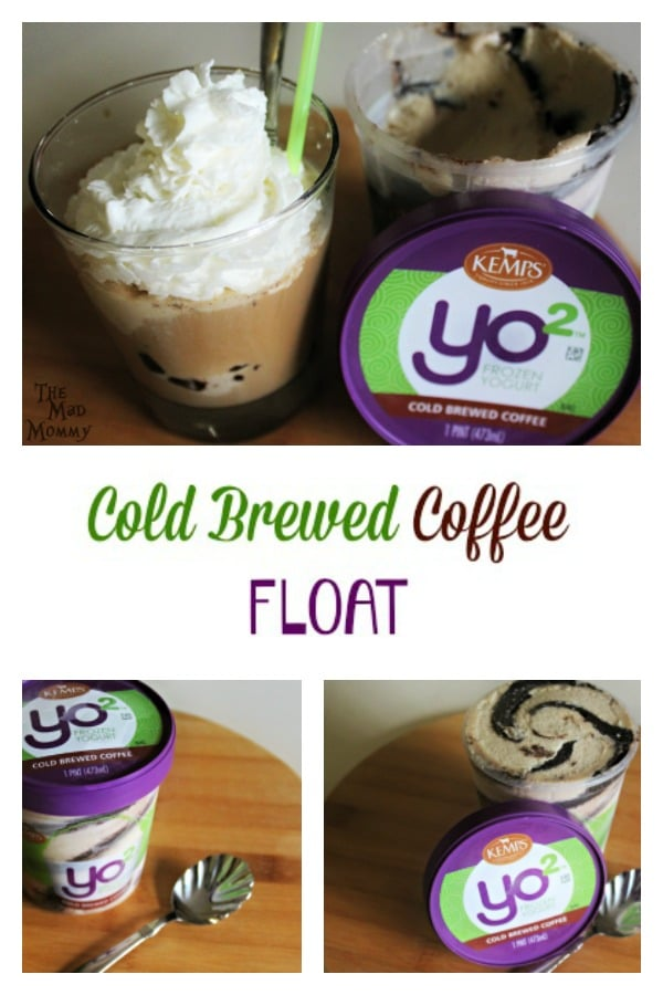 Indulge yourself and enjoy a sweet Cold Brewed Coffee Float featuring Kemp's Yo² Frozen Yogurt! #sponsored #Yo2 #ItsTheCows