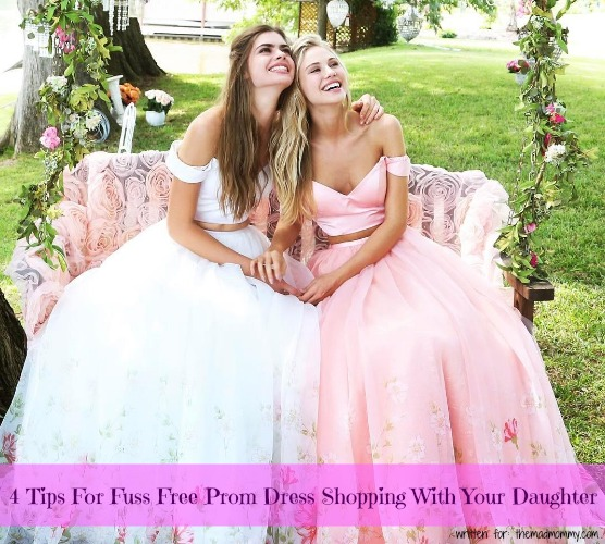 Here are a few ideas to keep mom and daughter prom dress shopping as stress-free as can be.